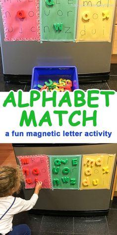 ALPHABET MATCH - HAPPY TODDLER PLAYTIME #toddler #toddleractivities #preschool #kidsactivities