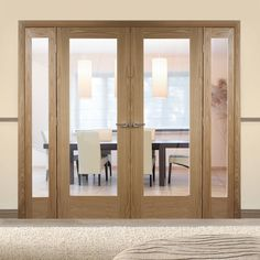 Easi-Frame Oak Room Divider Door System – Page 4 Living Room Divider, Room Divider Doors, Room Dividers, Wooden Sliding Doors, Internal Sliding Doors, Door Sets, Oak Doors, Shaker Style, Patio Doors