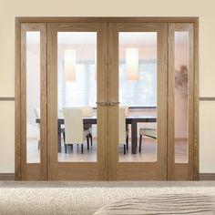 Easi-Frame Oak Door Set, GOSHAP10-COEOP3, 2005mm Height, 2214mm Wide. #oakshakerdoor #glazeddoorswithscreens
