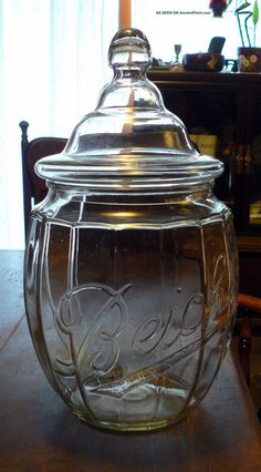 huge antique beich s candy jar apothecary general drug store 2 gallon pumpkin antique furniture apothecary general store candy