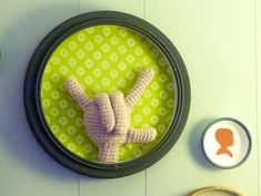 ASL American sign language 'i love you' hand. free crochet pattern Sheep Dog's Fleece: Signing with Crochet