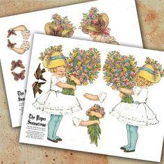 INSTANT Download Printable Flower Butterfly by RhondasOriginals