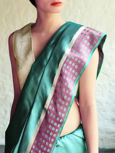 https://www.jaypore.com/turquoise-pink-mehjabeen-silk-saree-by-raw-mango-p44218