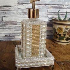 Mason Jar Crafts, Bottle Crafts, Bottles And Jars, Perfume Bottles, Personalised Gifts Diy, Crafts To Make, Diy Crafts, Diy Organisation, Fabric Boxes