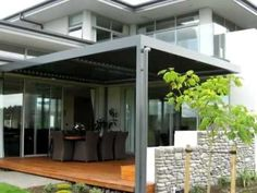 Equinox is a louvered roof system that moves at your command for full sun, filtered shade, or fully closed for sun and rain protection, allowing you to bring your living space outdoors. No matter what the occasion, live life uninterrupted. Pergola Swing, Pergola Shade, Pergola Plans, Diy Pergola, Wooden Patios, Roof Styles, Side Yards, Shade Structure, Roofing Systems