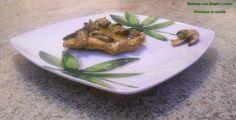 Salmone con funghi e pesto