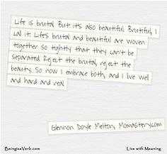 Life is Brutiful - Glennon Doyle Melton Quote