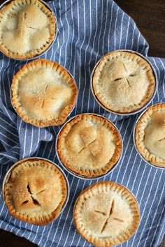An easy recipe for Mini Apple Pies! A classic apple pie with vanilla and cinnamon flavors made into individual servings!