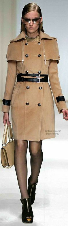 BURBERRY Flannel Trench With Cape