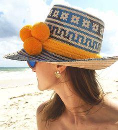 ONLY for USD  56.50 Wayuu Yosuzi Beach Hat Pom Pom Straw by KALON 706dff1111d