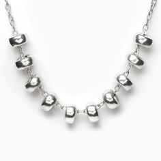 Sterling Silver Donuts Half Necklace by PAZ COLLECTIVE