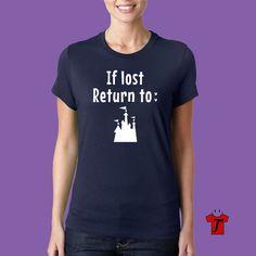 Disney shirt // cute disney shirts // disney castle shirt // if lost disney…