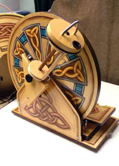 Painted Louet S40 Hatbox spinning wheel