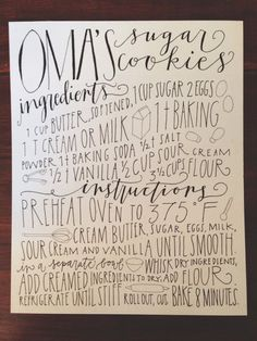 Custom 8x10 HandLettered and Illustrated Recipe Print by joliemade, $60.00