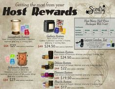 Do you want to know what rewards you get when you host a #scentsy party?! #hostrewards #freescentsy