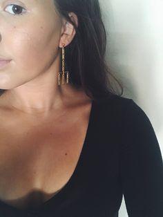 Chandelier boho dangle drop earrings A personal favorite from my Etsy shop https://www.etsy.com/listing/556096587/chandelier-gold-drop-dangle-earrings