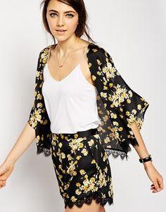 ASOS Floral Lace Hem Co-Ord