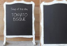 White Double Sided Chalkboard - From Antiquefarmhouse.com - http://www.antiquefarmhouse.com/current-sale-events/kitchen5/double-sided-white-chalkboard.html