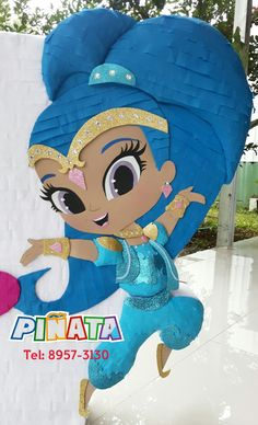Piñata Shimmer and Shine Fiesta Shimmer and shine Twin Birthday, 4th Birthday, Pinata Candy, Shimmer Y Shine, Jasmine Party, Paper Mache Crafts, Ideas Para Fiestas, Party Bags, Diy Wreath