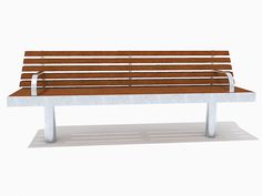 Front view of the straight Tree seat that has been designed to withstand the heaviest town centre treatment and features an incredibly strong all welded stainless steel frame and easily replaceable FSC® timber slats.  The straight Tree seat (with armrests) is based on the standard straight Tree seat. http://factoryfurniture.co.uk/index/products/seating/tree-range/straight-tree-seat-with-armrests.html