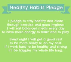 Encourage your students to take the healthy habits pledge, plus more great tips! Super Healthy Recipes, Easy Healthy Dinners, Healthy Foods To Eat, Healthy Dinner Recipes, How To Stay Healthy, Michael Johnson, Healthy Habits For Kids, Healthy Living, 21 Day Fix