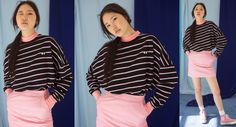 Lazy Oaf Peeping Eye Stripe Long Sleeve T-shirt - Summer 2017 - Seasons - Womens
