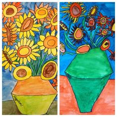 For the Love of Art: 2nd Grade: Van Gogh Sunflowers