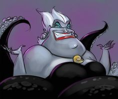 Disney Little Mermaids, The Little Mermaid, Ursula, A Good Man, Illustration, Anime, Asd, Witches, Cartoon Movies