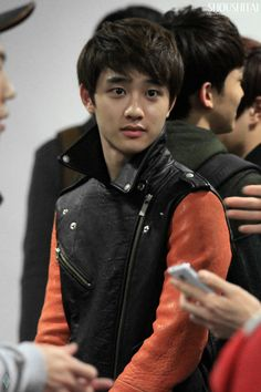 I have this mild. I just want to squish those cheeks and talk to him like a cute little puppy. it's becoming a problem Exo 12, Cute Little Puppies, Do Kyung Soo, Kyungsoo, The Man, Kpop, Actors, Chansoo, Penguin