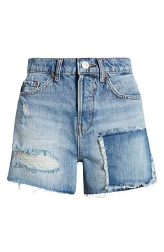 Urban Fashion, Fashion Looks, Denim Shorts Style, Urban Outfitters Women, Patchwork Jeans, High Waisted Shorts, Nordstrom, Urban Style, Clothes