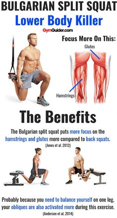 What are the benefits of Bulgarian split squats?If you are currently reading this, you have probably come to learn about a new form of squatting. Specifically, one you may not be too familiar with: Bulgarian split squats It just so happens that Bulgarian split squats are exactly what you are looking for.For some, However, that is why there can be so many benefits of Bulgarian split squats, and it's a movement you should implement in your routine as soon as you can. Training Fitness, Health Fitness, Fitness Memes, Funny Fitness, Running Training, Preparation Physique, Physical Inactivity, Fitness Bodybuilding, Bulgarian Split Squats