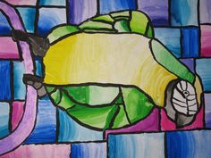 "4th grade watercolor: 18"" X 24"" Art teacher: Susan Joe"