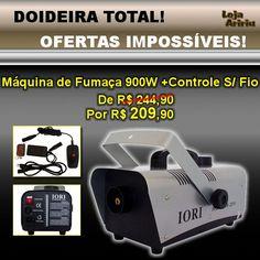 DOIDEIRA TOTAL! OFERTAS IMPOSSÍVEIS! Máquina de Fumaça 900W + Controle Remoto Sem Fio - De R$ 244,90 Por apenas R$ 209,90 em http://www.aririu.com.br/maquina-de-fumaca-900w-220v-controle-remoto-sem-fio-cap-1l_99xJM