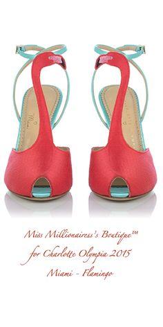 Charlotte Olympia Fall 2015 Miami Flamingo Pumps - Miss Millionairess's Boutique™