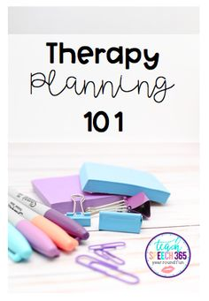Therapy Planning 101