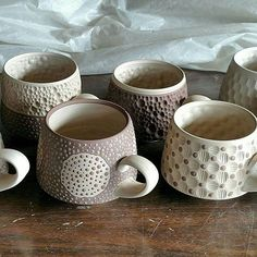 Last day for making these. Loading a bisque tomorrow evening. All is well. #mugshotmonday