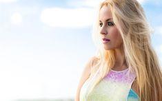 Download wallpapers Denys Martinez, 4k, singer, beauty, blonde, photomodels