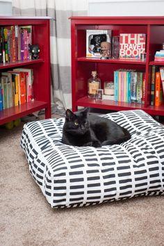 marimekko fabric diy floor pillow