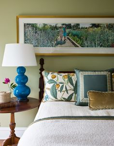 Jonathan Legate blue and white bedroom design portfolio | The Decorating Diva. LLC  Photos (C) Janet Kimber