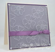 Hi Everyone! It's time again for the Papertrey Ink  Blog Hop. This month's challenge was to use vellum. I decided to do some dry embossing w...