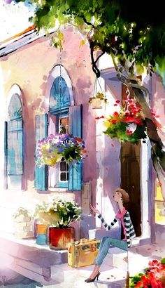 hanuol watercolors | Painting-Watercolour-Buildings