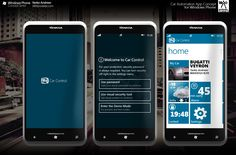 Car Automation App Concept for Windows Phone