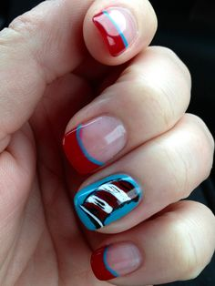 Dr Seuss nail design in honor of his birthday and Read Across America!!! Love!!!