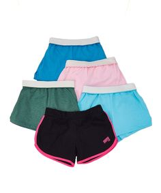 Dark Green & Light Blue Shorts Set - Girls