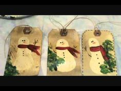 Starla's Candle Making, How to paint primitive snowmen.