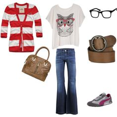 Love everything but the shoes and glasses