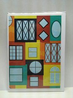 Windows 5x7 greeting card #hollyddesigns #greetingcard #windows #collage visit facebook.com/hollyddesigns