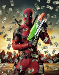 #Deadpool #Fan #Art. (Deadpool achieved one of the best Marvel releases in recent years. The film, released achieved excellent € 3.46 million in its debut, according to Rentrak Spain. With a presence in 655 rooms, average these provisional data is 5,283 €, and it is likely that the final figure is put at € 3.6 million, equivalent to more than 510,000 spectators) By: Fox. ÅWESOMENESS!!!™ ÅÅÅ+