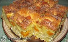 Túrós-sárgabarackos álom Hungarian Recipes, Hungarian Food, Summer Desserts, Lasagna, Quiche, Ale, French Toast, Sweets, Cookies