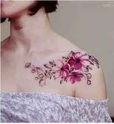 """Résultat de recherche d'images pour """"tatouage fleur épaule femme"""""""